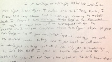 Sixth-Grader Writes Adorable Apology After 'Deez Nuts' 911 Prank Call